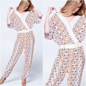 ELLISON Boho Chic Kimono Jumpsuit
